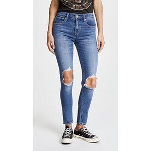Levi's 721 distressed high rise skinny jean